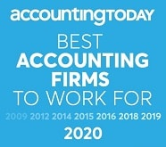 Accounting Today best accounting firms to work for 2009, 2012, 2014, 2015, 2016, 2018, 2019